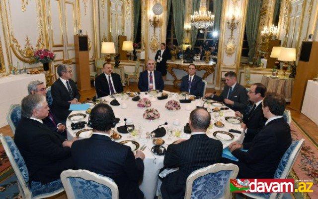 Fransa, Azərbaycan və Ermənistan prezidentlərinin birgə görüşü keçirilib