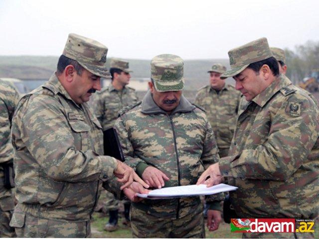 Azərbaycan müdafiə naziri cəbhəboyu zonadakı hərbi hissələrin döyüşə hazırlığını yoxlayıb