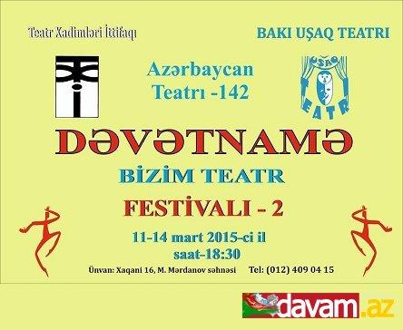 Milli Teatr günü münasibətilə Bakı Uşaq Teatrının təşəbbüsü...