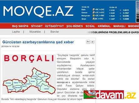 Gürcüstan azərbaycanlılarına şad xəbər