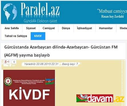 Gürcüstanda Azərbaycan dilində-Azərbaycan- Gürcüstan FM (AGFM) yayıma başlayıb