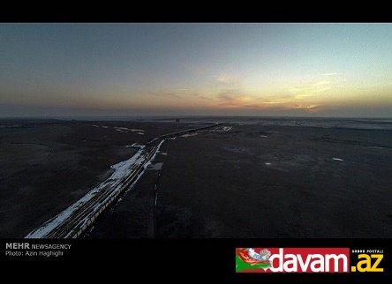 Urmu gölünün havadan çəkilmiş son GÖRÜNTÜLƏRİ