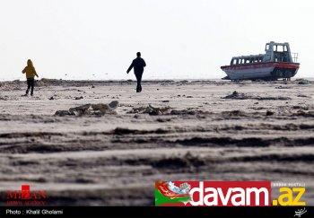 Urmiya gölünün indiki acınacaqlı durumunu əks etdirən yeni şəkillər yayılıb