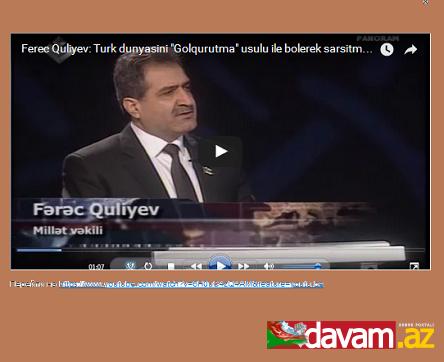 """Fərəc Quliyev Lider TV-nin """"Panoram"""" verilişinin qonağı olub.VİDEO"""
