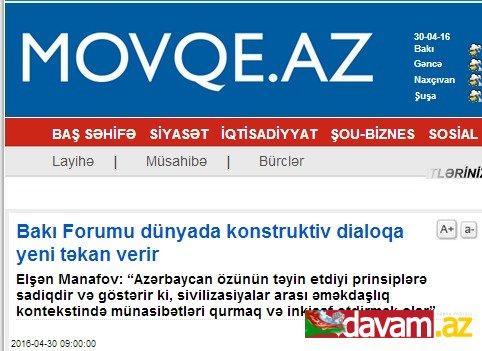Bakı Forumu dünyada konstruktiv dialoqa yeni təkan verir