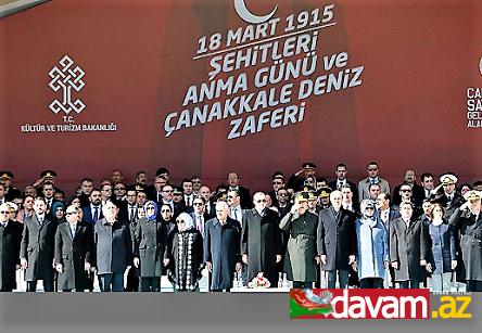 Türkiyədə Çanaqqala zəfərinin 102-ci ildönümü qeyd olunub