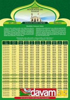 Ramazan ayı başlayıb