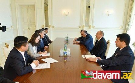 Prezident İlham Əliyev Çinin Xarici İşlər nazirini qəbul edib