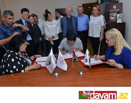 Azərbaycan və Koreya arxeoloqları birgə əməkdaşlıq müqavilə anlaşmasını imzaladılar