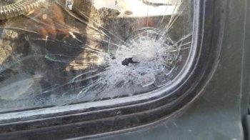 Ermənilər hərbi maşınımızı vurdular - FOTO
