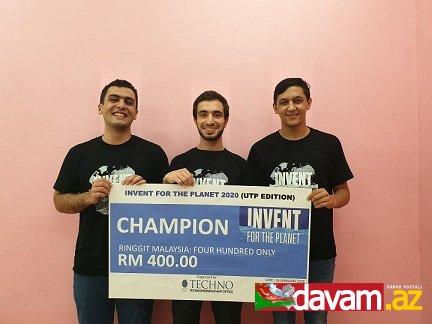 BANM tələbələri Malayziyada qlobal innovasiya yarışmasının qalibi oldu