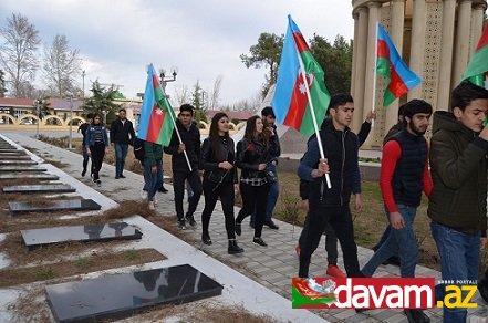 Region gənclərimiz Xocalı soyqırımı qurbanlarının xatirəsini anırlar