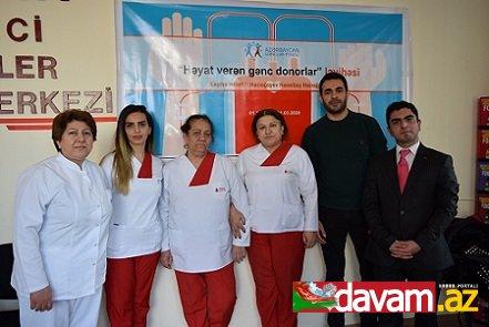 """""""Həyat verən gənc donorlar"""" layihəsi çərçivəsində qanvermə aksiyası"""