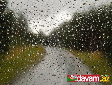 Ölkə ərazisində hava şəraiti qeyri-sabit keçib, bəzi yerlərdə yağış, Şahdağda qar yağıb