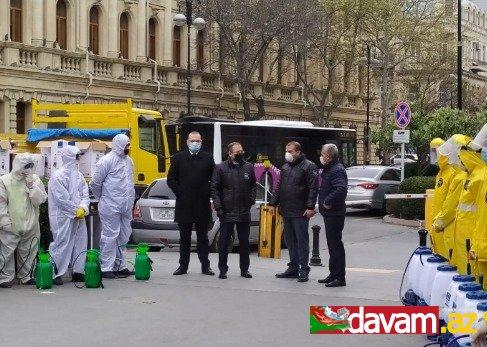 Səbail rayonunda dezinfeksiya işləri davam edir