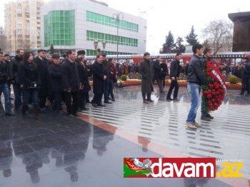 MDHP Xocalı Abidəsini ziyarət etdi - FOTO