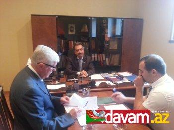 Fərəc Quliyev ATƏT-in nümayəndəsini qəbul etdi