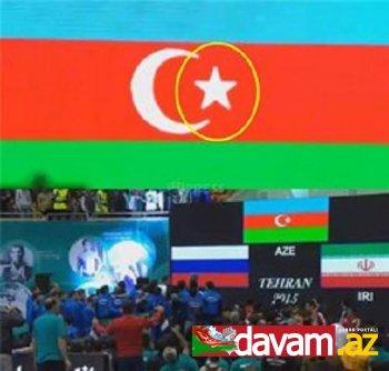 İranda Azərbaycan bayrağını yenə də təhqir edilib (foto, video)